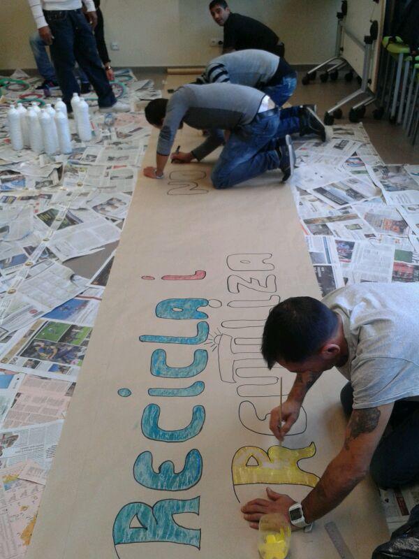 preparació del cartell