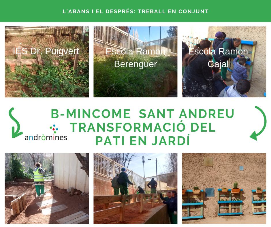 Transformem el pati en jardí: B-Mincome de Sant Andreu