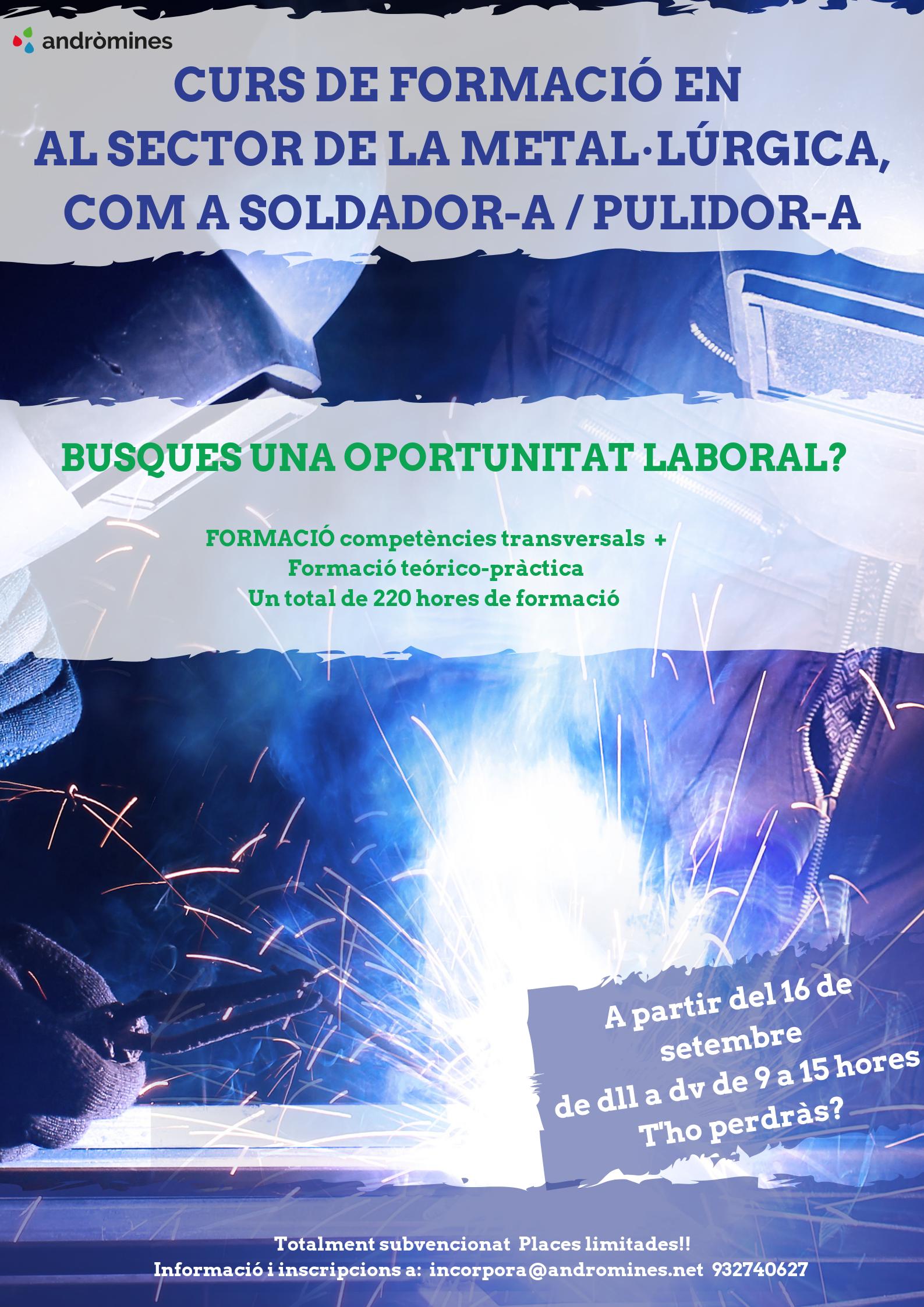 Formación profesionalizadora soldador/pulidor