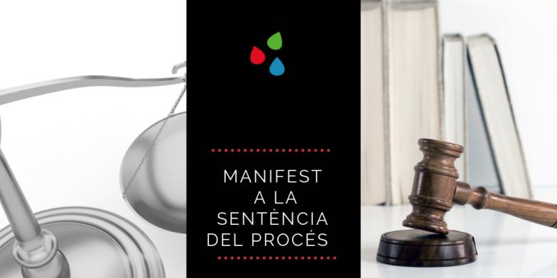 Sobre la sentencia: nos adherimos al manifesto de las entidades sociales y de la sociedad civil catalana