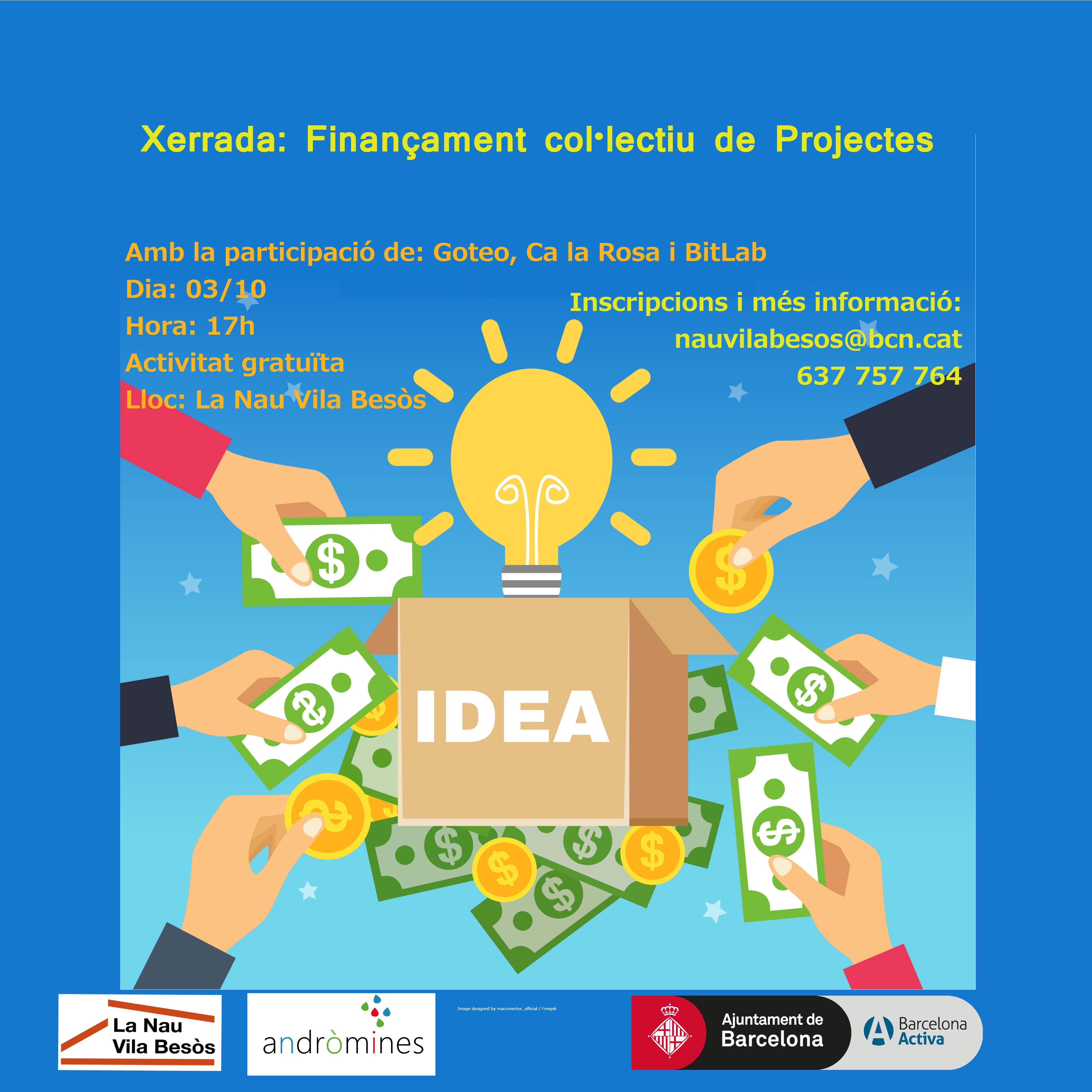 La Nau Vila Besòs acull xerrada sobre finançament col·lectiu de projectes