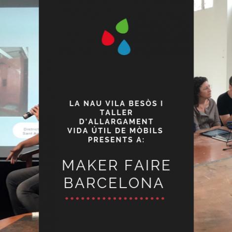 Els makers de Barcelona coneixen La Nau Vila Besòs i reparen mòbils amb Andròmines