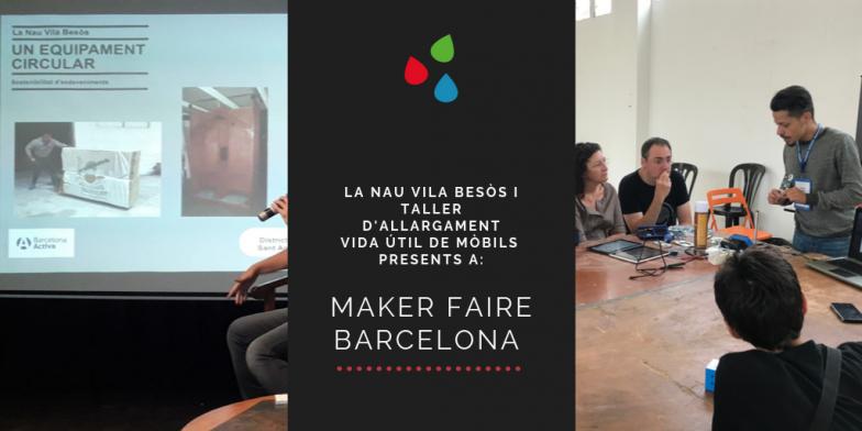 Los makers de Barcelona conocen La Nave Vila Besòs y reparan móviles con Andròmines