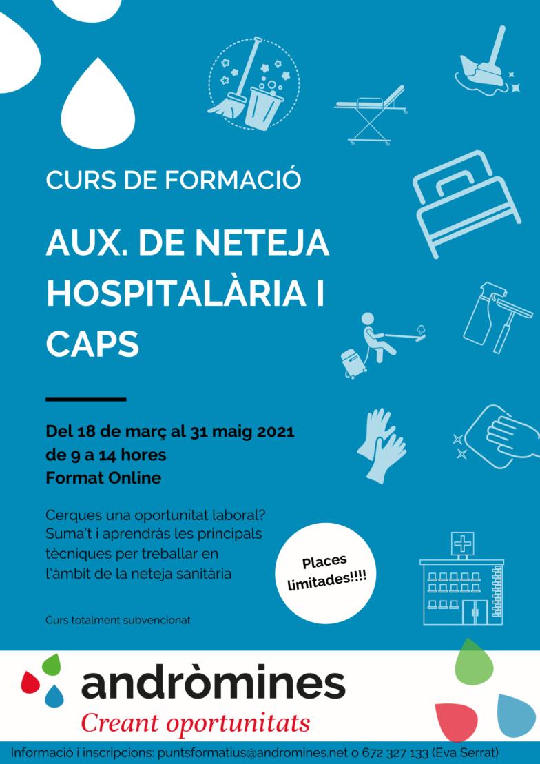 Nueva formación Auxde neteja hospitalària i CAPS.
