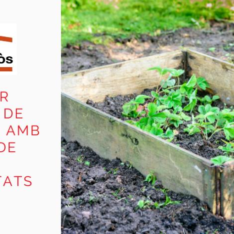Reaprofita palets per fer tancats de jardineria